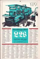 Luxembourg 1978, Calendrier Luxemburger Wort Imprimerie St.Paul, Grand Format, Rotative, 2 Scans - Calendars