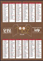 Luxembourg 1982, Calendrier Luxemburger Wort Imprimerie St.Paul, Grand Format A4, 2 Scans - Calendriers