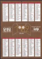 Luxembourg 1982, Calendrier Luxemburger Wort Imprimerie St.Paul, Grand Format A4, 2 Scans - Calendars