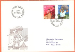 SVIZZERA - SUISSE - HELVETIA - 1981 - EUROPA CEPT - BERN - FDC - 1981