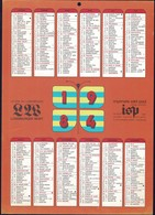 Luxembourg 1984, Calendrier Luxemburger Wort Imprimerie St.Paul, Grand Format A4, 2 Scans - Calendriers