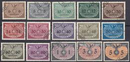 POLONIA - POLSKA - 1940 - Occupazione Tedesca - Lotto Di 15 Valori Usati: Yvert Servizio 10/24. - Governo Generale
