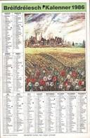 """Luxembourg 1986, Calendrier """"Bréifdréiesch-Kalenner"""", Grand Format, 2 Scans - Calendriers"""
