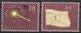 UNGHERIA 2000  MILLENARIO 2000 YVERT. 3709-3710 USATA VF - Ungheria