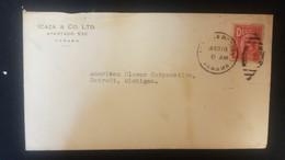 O) 1923 CIRCA - PANAMA, ARMS 2c, ICAZA AND CO LTD, TO USA - Panama