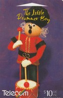 TARJETA TELEFONICA DE NUEVA ZELANDA, NAVIDAD - CHRISTMAS. THE LITTLE DRUMMER BOY. G-196. (095) - Christmas
