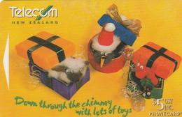 "TARJETA TELEFONICA DE NUEVA ZELANDA, NAVIDAD - CHRISTMAS. Lots Of Toys ""496B"". G-194. (096) - Christmas"