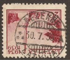 LATVIA. POSTMARK. REZEKNE. 20s DARK CARMINE. USED - Latvia
