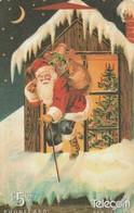 TARJETA TELEFONICA DE NUEVA ZELANDA, NAVIDAD - CHRISTMAS. Santa On Roof. G-142. (097) - Christmas