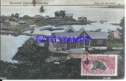 113405 AFRICA MONROVIA LIBERIA LOOK AT THE HARBOR POSTAL POSTCARD - Liberia
