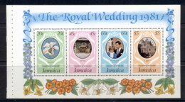 Jamaica 1981 Royal Wedding Charles & Diana MS MUH - Jamaica (1962-...)