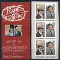 Grenada Grenadines 1981 Royal Wedding Charles & Diana 2x P&S Booklet Panes MUH - Grenada (1974-...)