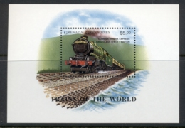 Grenada Grenadines 1996 Trains, Cornish Rivera Express MS MUH - Grenada (1974-...)