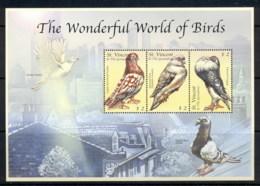 St Vincent 2000 Birds, Pigeons MS MUH - St.Vincent (1979-...)