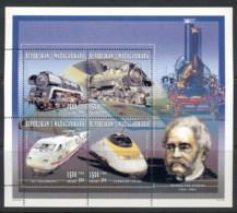Madagascar 1996 Werner Von Siemens Trains MS MUH - Madagascar (1960-...)