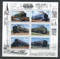 Grenada Grenadines 1996 Trains, Pacific Blue Peter Sheetlet MUH - Grenada (1974-...)