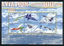 Liberia 2000 Aviation The Last 100 Years Sheetlet MUH - Liberia