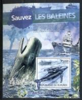 Burundi 2012 Save The Whales MS MUH - Burundi