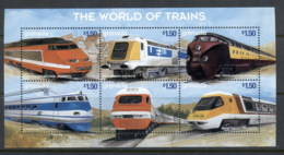 Grenada 1999 The World Of Trains, TGV French National Railways Sheetlet MUH - Grenada (1974-...)