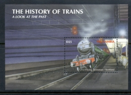 Gambia 2001 History Of Trains , Flying Scotsman MS MUH - Gambia (1965-...)