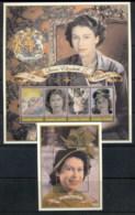 Zambia 2001 QEII 75th Birthday 2x MS MUH - Zambia (1965-...)