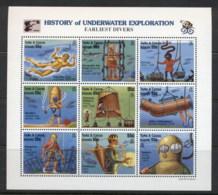 Turks & Caicos Is 1996 History Of Underwater Exploration Sheetlet MUH - Turks & Caicos