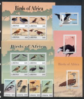 Liberia 2007 Birds Of Africa + 2xsheetlet, 3xMS MUH - Liberia
