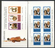 Grenada 1977 QEII Silver Jubilee 2xP&S Booklet Panes MUH - Grenada (1974-...)
