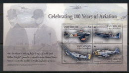 St Vincent 2003 100 Years Of Aviation , Mitsubishi Reisen Sheetlet MUH - St.Vincent (1979-...)