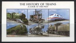 Gambia 2001 History Of Trains Sheetlet MUH - Gambia (1965-...)