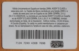 TARJETA ZARA ESPAÑA MODA - FASHION. - Otros