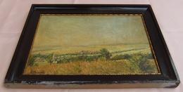 Altes Gemaltes Gemälde Von A. Benesch  -  Motiv : Ortschaft Gosterlitz (Schlesien?) - Größe Ca. 35 X 25,5 Cm - Non Classificati