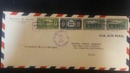 O) 1937 HONDURAS, MASONIC TEMPLE TEGUCIGALPA SCT 328, FLAG, MAYOL BRIDGE, ROSWELL W. PROUTY, AIRMAIL TO USA - Honduras