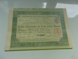 Savonnerie Continentale Du Cosmydor (1898) - Shareholdings
