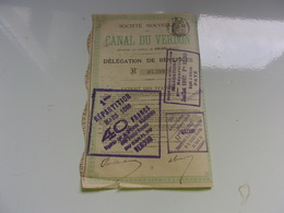 CANAL DU VERDON (1897) - Shareholdings