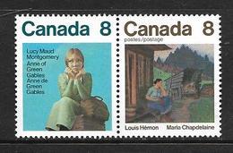 CANADA 1975 ECRIVAINS CANADIENS YVERT N°565/66 NEUF MNH** - Ungebraucht