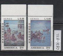 Honduras 1992 Issue MNH Scott C871-C872 America Upaep Discovery Of America 500 - Honduras