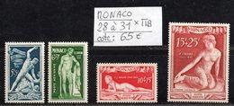 Lot MONACO Poste Aérienne N° 28 à 31  Neuf * Gomme D'Origine  TTB - Aéreo