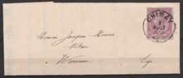 L. Bordereau D'expédition Par Chemin De Fer De Chimay Brasserie Abbaye De N_D De Scourmont Affr. N°46 Càd CHIMAY /2 AOUT - 1884-1891 Leopoldo II