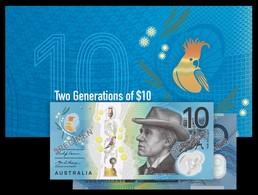 AUSTRALIA • 2017 • RBA Folder • $10 Two Generations • Uncirculated Pair - Emisiones Gubernamentales Decimales 1966-...