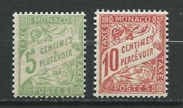 MONACO 1905/09 . Taxes . N°s 2 Et 3. Neufs ** (MNH) - Taxe
