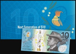 AUSTRALIA • 2017 • RBA Folder • $10 Next Generation • Uncirculated - 2005-... (Polymer)