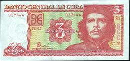 """CUBA - 3 Pesos 2006 {""""Che"""" Guevara} UNC P.127 C - Cuba"""