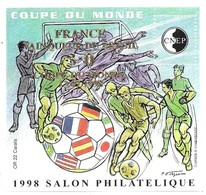 CNEP Coupe Du Monde 1998 Salon Philatelique France Vainqueur 3-0 Coupe Du Monde 12/07/1998 Surcharge OR 22 Carats - CNEP