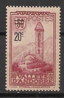 Andorre - 1935 - N°Yv. 46 - Timbre Surchargé 20c Sur 50c - Neuf * / MH VF - Andorre Français