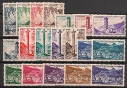 Andorre - 1955-58 - N°Yv. 138 à 153 - Série Complète - Neuf * / MH VF - Andorra Francese