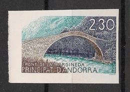Andorre - 1990 - N°Yv. 385a - Pont De La Margineda - Non Dentelé / Imperf. - Neuf Luxe ** / MNH / Postfrisch - Andorra Francese