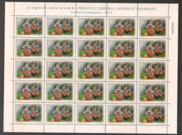 Andorra - 2013 - N°Yv. 392 - Costumes Traditionnels - Feuille / Complete Sheet - Neuf Luxe ** / MNH / Postfrisch - Spaans-Andorra