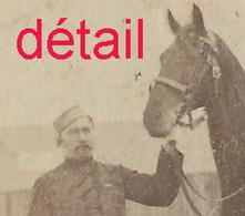 Photo 6,1 X 9,3cm- Captain SHAW 7e Hussard Et Son Cheval Vers 1870 - Guerra, Militares