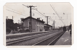 31 Villefranche De Lauragais Vers Toulouse La Gare Avec Train De Voyageurs Ancien En 1949 Editions Narbo VOIR DOS - Toulouse